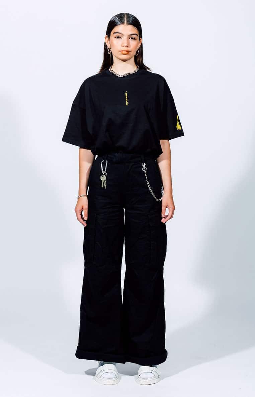 Schwarzes T-Shirt Introvrt Stolidity Frauen