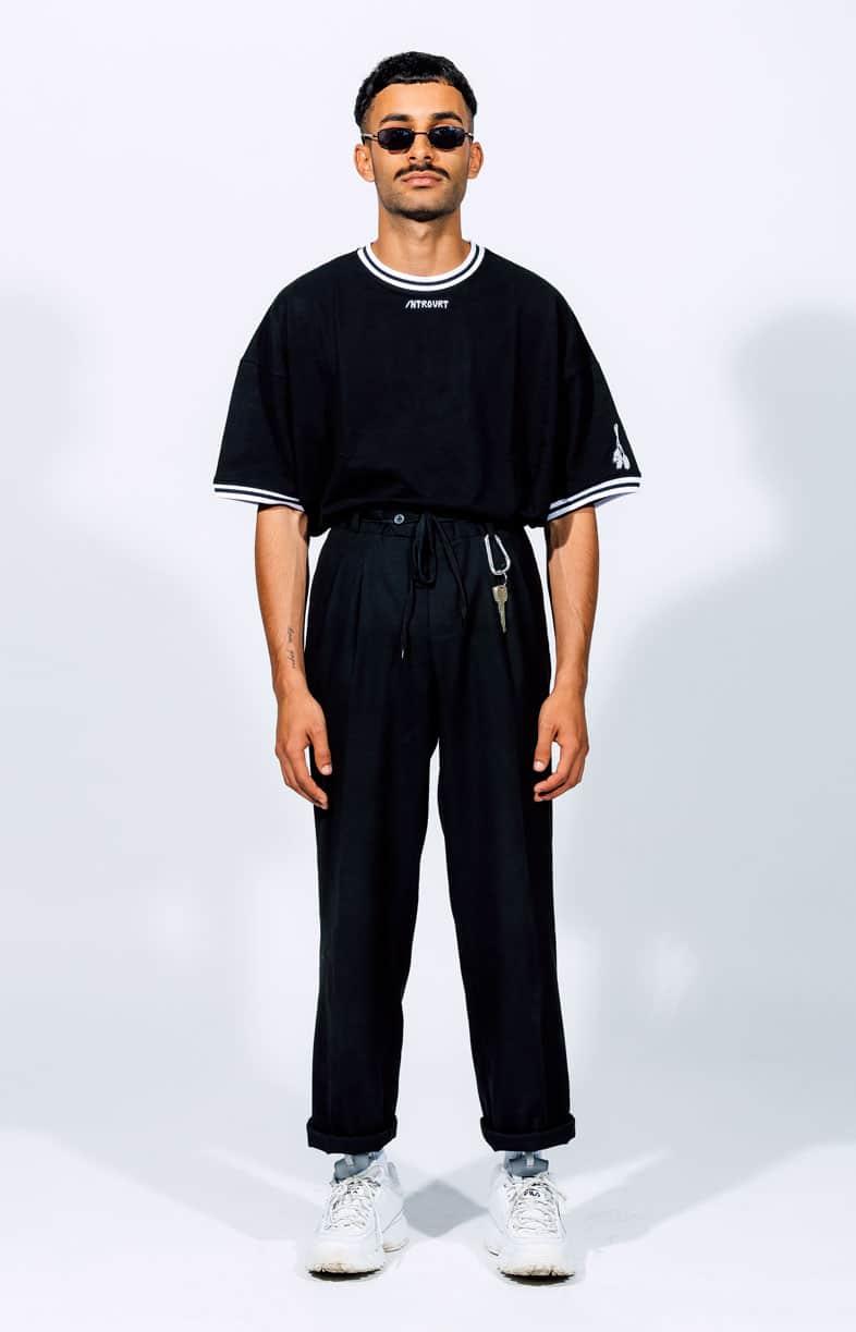 Schwarzes T-Shirt Introvrt Wrath Männer