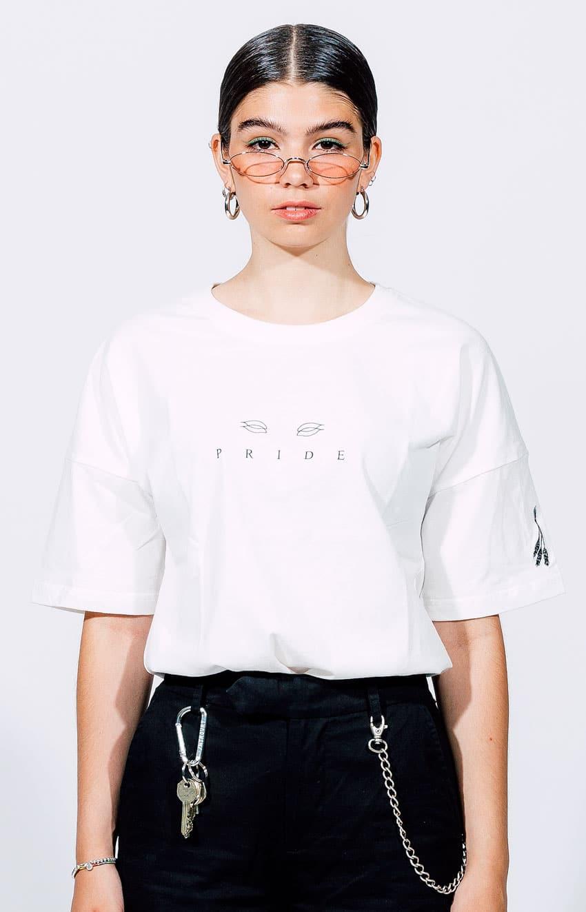 Weißes T-Shirt Introvrt Pride Frauen