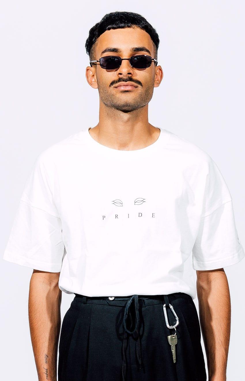 Weißes T-Shirt Introvrt Pride Männer