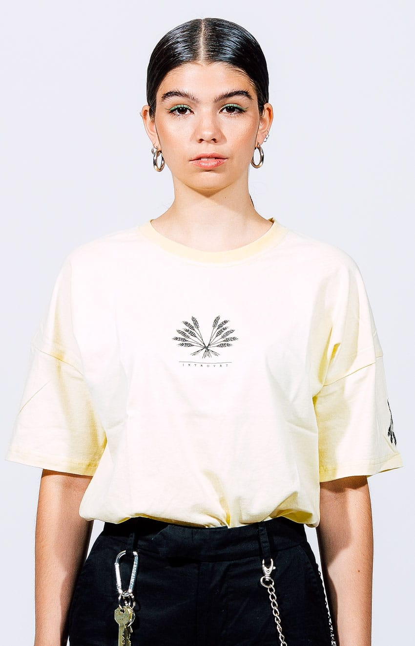 Offwhite T-Shirt Introvrt Envy Frauen