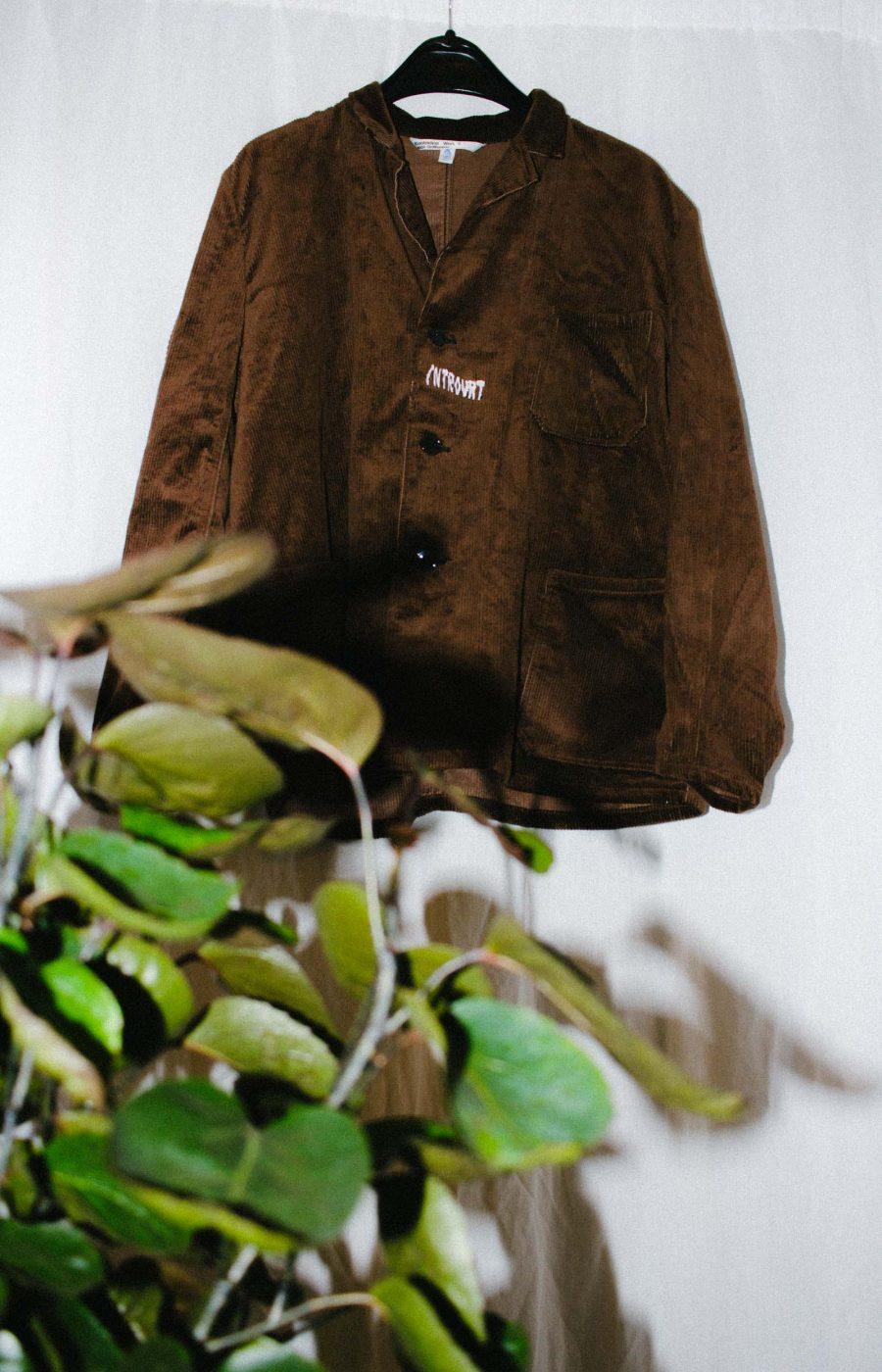 Brown Cord jacket Introvrt unique piece