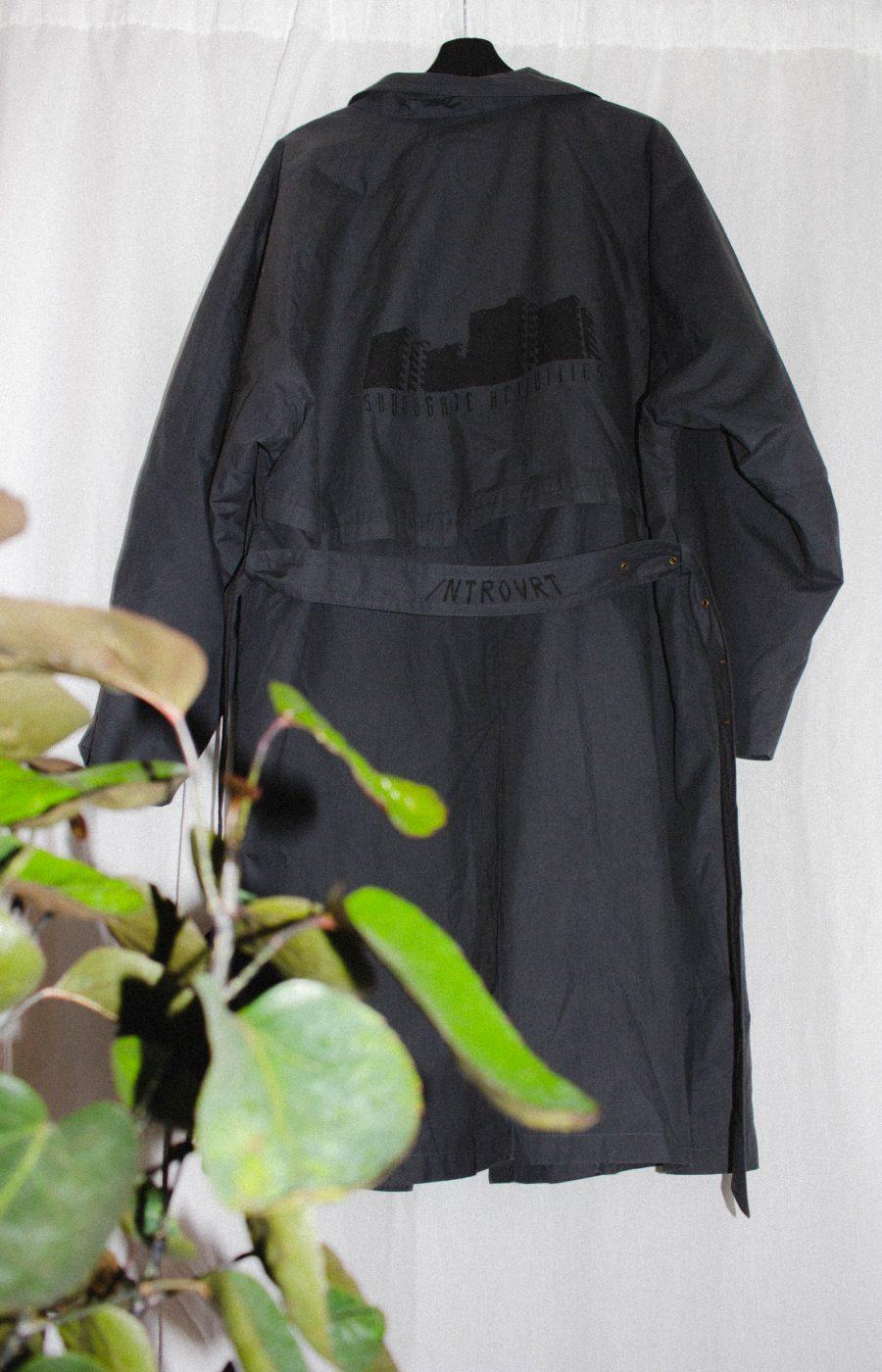 Dark Gray Coat Unique Pieces Introvrt
