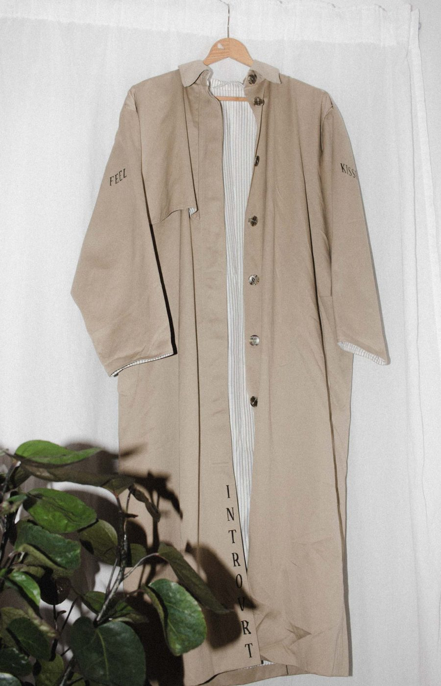 Beige Trenchcoat Unique Pieces Introvrt